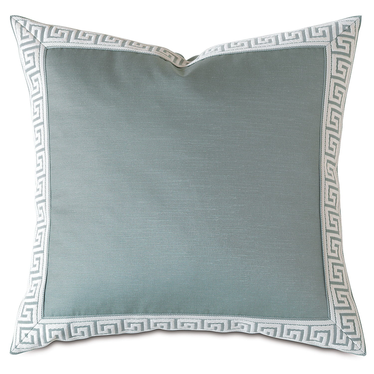 Mack Ice Greek Key Border Accent Pillow
