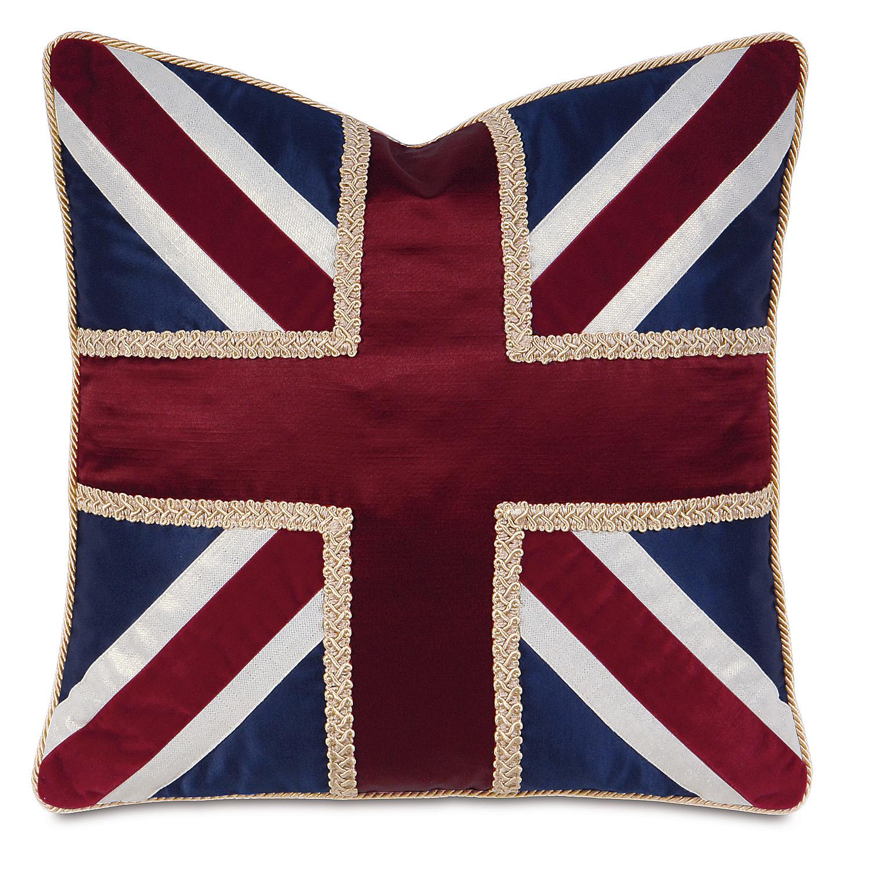 Union Jack Navy Accent Pillow